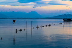 Lindau south-west blue hour ... (acbrennecke) Tags: achimbrennecke lindau bayern bodensee lakeconstance bluehour sunset nikon5500 nikon reflection reflektion water lake alpen alps