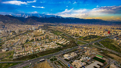 Tochal mountains from Burj-e Milad, Tehran, 20170408 (G · RTM) Tags: mountain tochal tehran milad tower burjemilad sunset