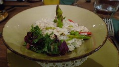 phallic risotto (helenoftheways) Tags: food risotto asparagus salad thegantry brockley london uk peas rice