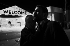 _R000945 (-=KRIS=-) Tags: noir et blanc black white street night caprice festival ricoh gr portrait cigarette cran montana