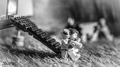 Classic tourism (The Aphol) Tags: lego legography legophotography minifigures toy toyphotography alien space classic spaceman abduction bw vintage adventure scifi
