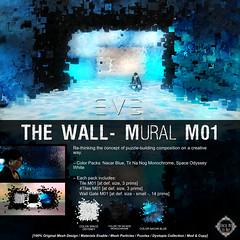 "E.V.E ""The Wall"" Mural [Colors] (eve.studio (Noke Yuitza)) Tags: fantasy cyberpunk dystopia lea lindenendowmentforthearts eve 100originalmeshdesign animatedmeshparticlelights algae fantasyfair artanddesign shinyshabby"