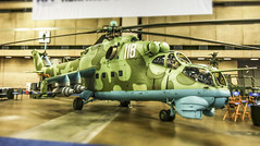 The Beast - Mi-35 (Hind) (Andy.Gocher) Tags: mil mi35 hind andygocher canon100d canon1018mm usa texas dallas hai heliexpo 2017 helicopter military green indoors mini mode tilt shift