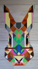 Lapin (Claire Coopmans) Tags: pixel pixels hama beads bead perles perle lapin rabbit geometrie geometry decoration
