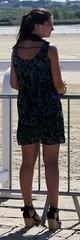 205 (SadCire) Tags: woman frau femme mujer girl thigh calves legs miniskirt minidress skirt dress heels street candid sexy teen wedges