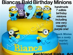 MINIONS (Anita (Auckland Cake Art)) Tags: minions blue yellow purple 9 ninth birthday wedding christening pacifica samoa newzealand cake cakes auckland boys girls chocolate 21st baby shower