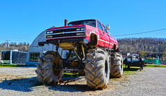 Street Legal? (brutus61534) Tags: chevy tires jacked lift mudder truck perspective ohio suspension