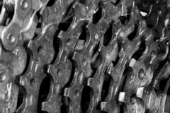 All Geared Up (adamtuttle83) Tags: bicycle gears chain cogs xt1 macro extension fuji black white