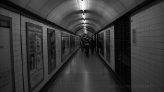Panel Tunnel (MJ Taylor) Tags: blackandwhitephotography underground subway london empty tubestation monochrome abstract