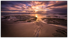 A path to the heavens (RissaJT_23) Tags: pointlonsdale pier sunrise canon6d canon canoneos6d canon1740mm lee cokin bellarinepeninsula jetty pointlonsdalejetty nd seascape seaside longexposure