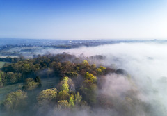Warley Place in the fog (AdaMoorePhotography) Tags: drone dronography dji djimavicpro fly fog above sky high aerial