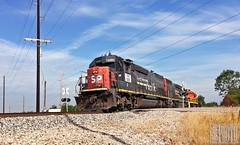 2014-06-22 Newburgh IN TPW9395 SD45T-2 (ex-SP9395) (gravelydude1966) Tags: emd sd45t2 tpw tpw9395 espee sp9395 southernpacific newburgh indiana indianasouthern isrr