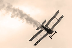 Doomed? (Kev Gregory (General)) Tags: royal aircraft factory se5a replica 78 scale gbmdb f235 takes skies for some flight time over stow maries great war aerodrome near maldon essex during timeline events sunset night shoot