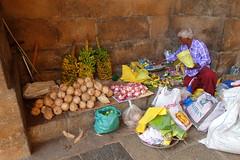 Brihadeeswarar Temple (Celeste33) Tags: thanjavur india brihadeeswarartemple hindu 1010ce coconuts flowers offerings temple