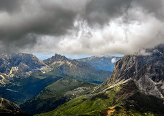 Way up high (10000 wishes) Tags: dolomites mountainrange landscape storm stormclouds beautiful view italy cloudscape