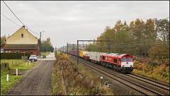 12 november 2016 - Crossrail PB13 - Herk-de-Stad (EnricoSchreurs) Tags: crossrail class 66 class66 pb13 40105 zeebrugge segrate herkdestad belgie belgium trein train zug railway spoor track november 2016 canon eos 6d