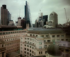 Old Square Mile, new Square Mile... (Мaistora) Tags: city squaremile london banks insurance financial markets brokers asset stockmarket thecity bank cityscape skyline panorama roofs buildings architecture traditional modern contemporary skyscraper cranes construction investment property realestate phone mobile window glass tint tinted reflections samsung galaxy s7 samsunggalaxys7 android lightroom