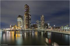 Kop van Zuid Rotterdam 2 (Rens Timmermans) Tags: canon5dmk3 sigma1224f4556dg architectuur rotterdam havens bruggen nationalgeographic nachtfotografie httpswwwflickrcomphotosrenstimmermans33923892951ngc