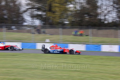 Oscar Piastri in British F4 Race Two during the BTCC Weekend at Donington Park 2017: Saturday, 15th April