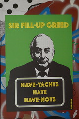 Sir Fill-up Greed, Have-yachts hate Have-nots (duncan) Tags: streetart shoreditch subdude phillipgreen philipgreen