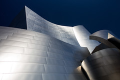 Waves (Katka S.) Tags: usa los angeles architecture downtown building modern hall concert walt disney metal sky shine shiny abstract blue fotocompetition fotocompetitionbronze fotocompetitionsilver