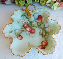 Antique Rosenthal Porcelain Hand Painted Bowl ~ Artist Signed ~ Gold Encrusted (Donna's Collectables) Tags: antique rosenthal porcelain hand painted bowl ~ artist signed gold encrusted