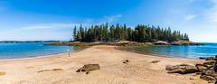 Barred Island Preserve (MaxSkyMax) Tags: sea usa canon pano ocean tress island sand beach daytime summertime fair