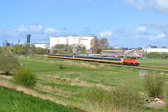 DBC 6416 met NS ICM 4072 en 4063 te Hoogkerk, 17-04-17 (Daniël de Ruig) Tags: ns icm koploper db dbc 6400 hoogkerk groningenleeuwarden spoorlijn