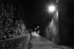 SMALL STREET AT NIGHT B+W (Mike Reval) Tags: switzerland ticino bw night street village