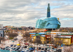 Canadian Museum of Human Rights (allansoul) Tags: view hdr 1855mm city xt20 cityscape allansoul theforks photomatix canada winnipeg manitoba fujifilm views