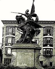 Spanish American War monument, Dolores Street (sftrajan) Tags: spanishamericanwarmonument monument statue guerra doloresstreet marketstreet estatua spanishamericanwar