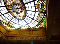 France Chocolatier Glass Ceiling (gdenuzzio12) Tags: flickrfriday ceiling colors chocolatier bayonnefrance france glassceiling