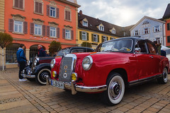 Red ! (FocusPocus Photography) Tags: mercedes w105 auto automobil car oldtimer classiccar vintagecar historisch historic rot red marktplatz marketplace ludwigsburg