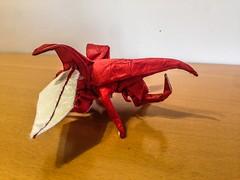 Hercules beetle (lorenzogiorgio1) Tags: paper animal insect herculesbeetle beetle art origami