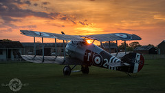 """ Sopwith Sunset "" (simonjohnsonphotography.uk) Tags: stowmaries sopwith raf aircraft nikon sunset aviation ww1 royalaircraftfactory sopwithsnipe tle sjaviationnet longexposure greatwar nightshoot"