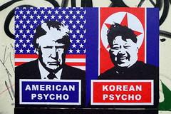 American Psycho / Korean Psycho (duncan) Tags: trump donaldtrump streetart shoreditch subdude americanpsycho kimjongun