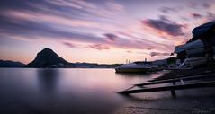 Lugano sunset (nicolas.fernandez85) Tags: landscape ticino sunset svizzera schweiz suisse switzerland water long exposure nikon d750 clouds light ceresio salvatore lake