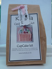 121006 1 Cupcake card kit for mum's birthday ( Claire ) Tags: birthday happy knitting buttons knit craft cupcake card happybirthday kit knitted crafting pompom cardkit kitcard knitola
