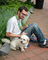 A Man and his Foster (Knight725) Tags: dog pennslanding d800 2470f28 adoptionevent