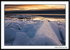 Brighton Beach Ice-5 (Ben Podolak) Tags: ice sunrise lakesuperior