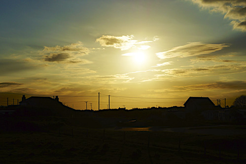 Sunset over Kilnsea