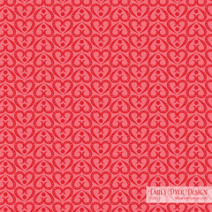 Sweethearts Pattern (emily dyer) Tags: pink red art illustration hearts design pattern heart patterns surfacedesign valentine illustrator sweetheart emilydyer seamlessrepeat