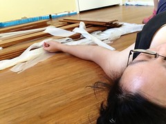 Stranded bamboo floor installation (Crafty Diversions) Tags: home floors diy bamboo improvement remodeling uploaded:by=flickrmobile flickriosapp:filter=nofilter
