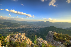 View on Grenoble (L'Empreinte Photographie - URBEX) Tags: city sunset mountain alps sunshine alpes grenoble sunrise landscape town chartreuse paysage belledonne wwwlempreintephotographiecom
