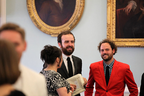 Drake Doremus attending a drinks reception at Surgeons Hall