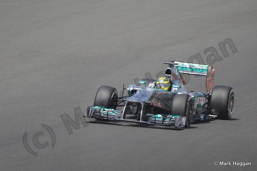 Lewis Hamilton in the 2013 British Grand Prix