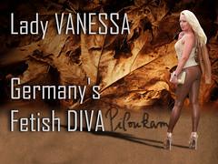 Vanessa Brown (piloukam) Tags: black girl lady fetish fire gold shoes noir highheels or barbie gimp heels spike feuer feu feuille compositing doré lany fekete lfv hautstalons ladyfetishvanessa