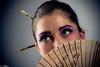 image-5 (stiqqo) Tags: colors girl japan studio fly sticks eyes image background wear nippon kana девушки девушка студия платье япония образ краски фон синее японская палочки макияж японка бирюза веер мейк