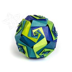 Universe (_Ekaterina) Tags: blue paper origami modular paperfolding modularorigami kusudama unitorigami lukasheva ekaterinalukasheva