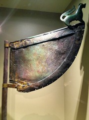 Gilded ship's vane from Viking ship (radiowood) Tags: art museum sweden medieval gotland vikings visby ironage